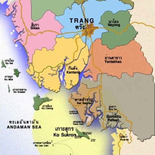 Karte SüdThailand