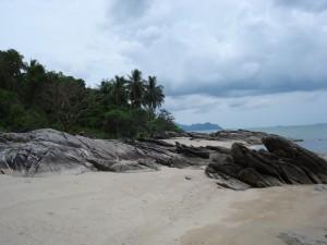 Kleine versteckte Bucht bei Khanom