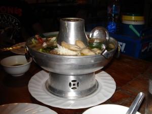 Tom Yam Thale - Scharfe thailändische Seafood-Suppe