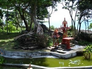 Geisterhäuschen in einer Ferienanlage bei Khanom